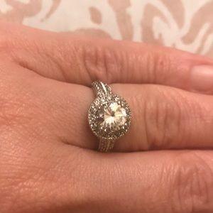 Diamonique simulated diamond ring